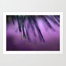 Purple Frenzie  Art Print