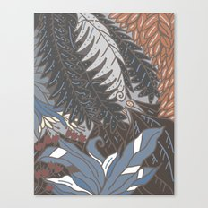 woodland with fronds Canvas Print
