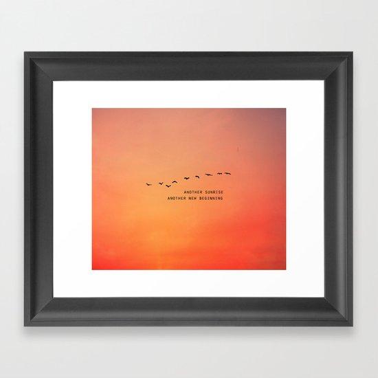 Another Sunrise Another New Beginning  Framed Art Print