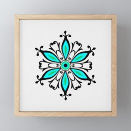 Ornamental flower Framed Mini Art Print