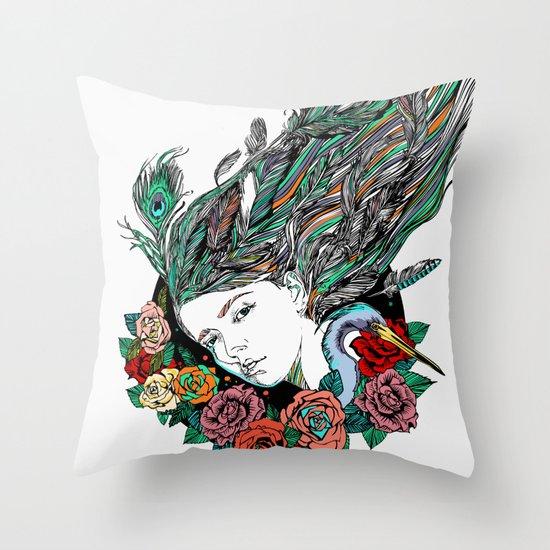 Feather Dream Throw Pillow