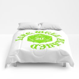 d20 Life Well Played Crit Comforters