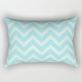 Chevron Aqua Dreams Rectangular Pillow