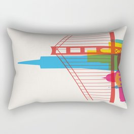 Shapes of San Francisco. Accurate to scale Rectangular Pillow