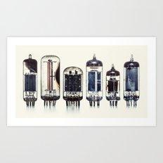 Vintage Amplifier Tubes Art Print
