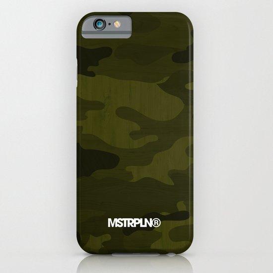 Modern Woodgrain Camouflage / Greenwoods DPM iPhone & iPod Case