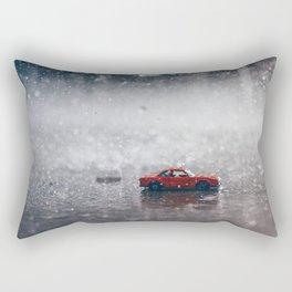 The Car in the Rain Rectangular Pillow