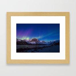 Sunset Aurora Framed Art Print