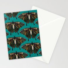 swallowtail butterfly teal Stationery Cards