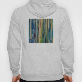 Abstract Forest at Sunrise Painting Hoody