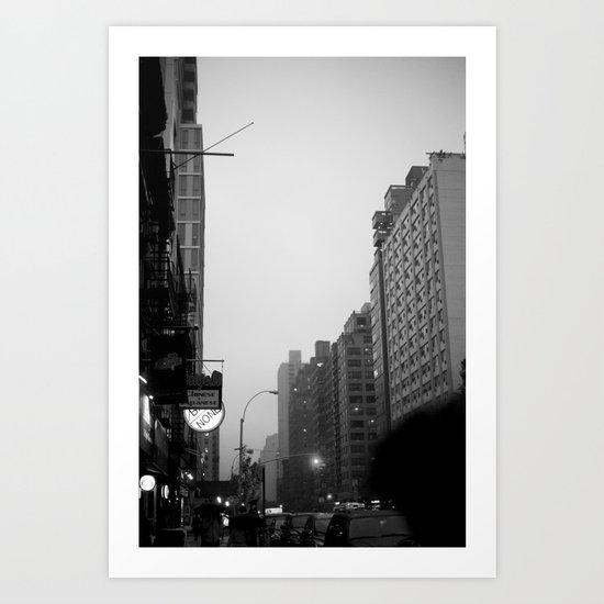 new york city in the rain  Art Print