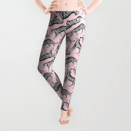 Tigers (Pink and White) Leggings