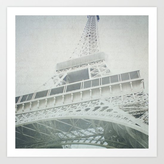 Letters From The Eiffel - Paris Art Print