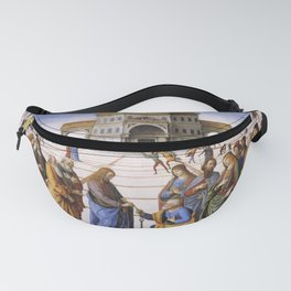 The Delivery of the Keys Painting by Perugino Sistine Chapel Fanny Pack