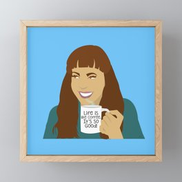 Life Is Like Coffee Framed Mini Art Print