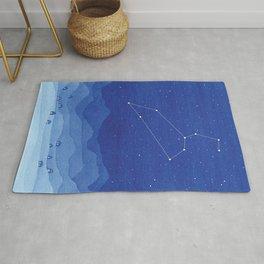 Leo Constellation, Mountains Rug