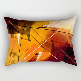 Shards of Sun - Geometric Abstract Art Rectangular Pillow