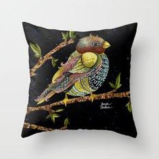 Positivity Bird 3 Throw Pillow