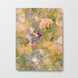 Light and Muse | Dreamy Floral Watercolor no. 1 Metal Print
