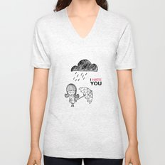 I Hate You / Rain Unisex V-Neck