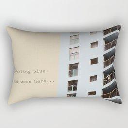 postcard from a tower block... Rectangular Pillow