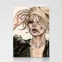 kate moss Stationery Cards featuring Kate Moss by vooce & kat