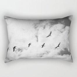 """Bird Silhouettes"" Holga double exposure Rectangular Pillow"