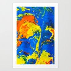 Gravity Painting 18 Art Print