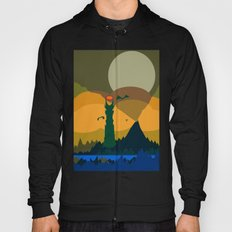 Mordor Landscape (Abstract colour scheme( Hoody