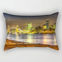London at Night Rectangular Pillow
