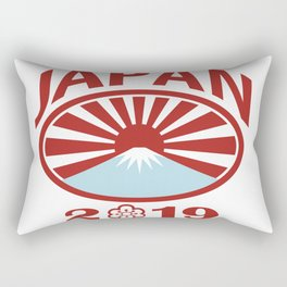 Japan 2019 Rugby Oval Ball Retro Rectangular Pillow