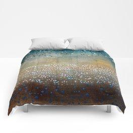 Landscape Dots - Turquoise Comforters