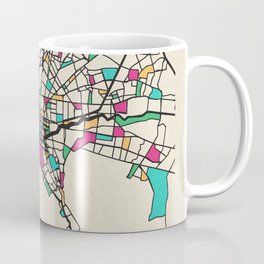 Colorful City Maps: Monterrey, Mexico Coffee Mug