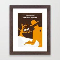 No202 My The Lone Ranger minimal movie poster Framed Art Print
