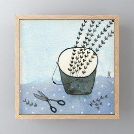 Scissors and bucket Framed Mini Art Print