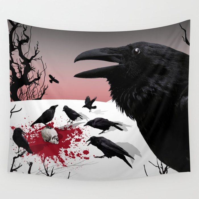 """Murder!"" She Crowed Wall Tapestry"