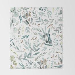 Eucalyptus pattern Throw Blanket