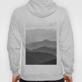 Forest Fade - Black and White Landscape Nature Photography Hoody