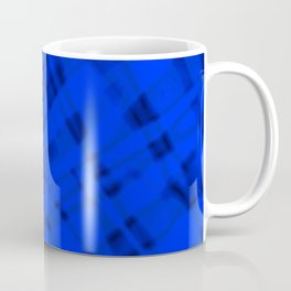 Bright metal mesh with blue intersecting diagonal lines and stripes. Coffee Mug