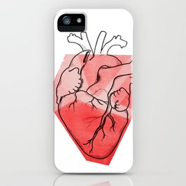 Heart Lines iPhone Case