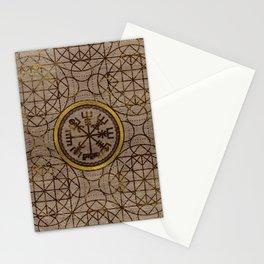 Vegvisir. The Magic Navigation Viking Compass Stationery Cards