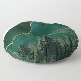 Mt Hood Emerald Mountain Abstract Floor Pillow