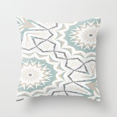 Planthouse Aztec Stone & Blue Throw Pillow