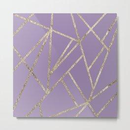 Classic Lavender Gold Geo #1 #geometric #decor #art #society6 Metal Print