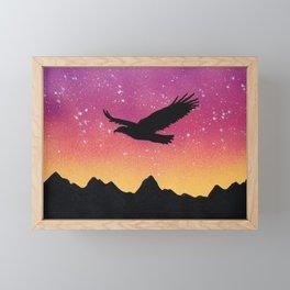 Eagle Silhouette Framed Mini Art Print