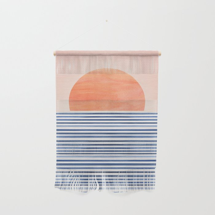 Summer Sunrise - Minimal Abstract Wall Hanging
