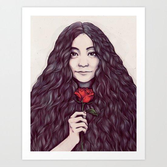 Yoko Ono Art Print