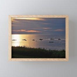Golden Sparkling Waters Framed Mini Art Print