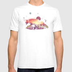 Woodlands Fox White SMALL Mens Fitted Tee