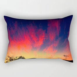 Sunset Clouds Pink Whisps Rectangular Pillow